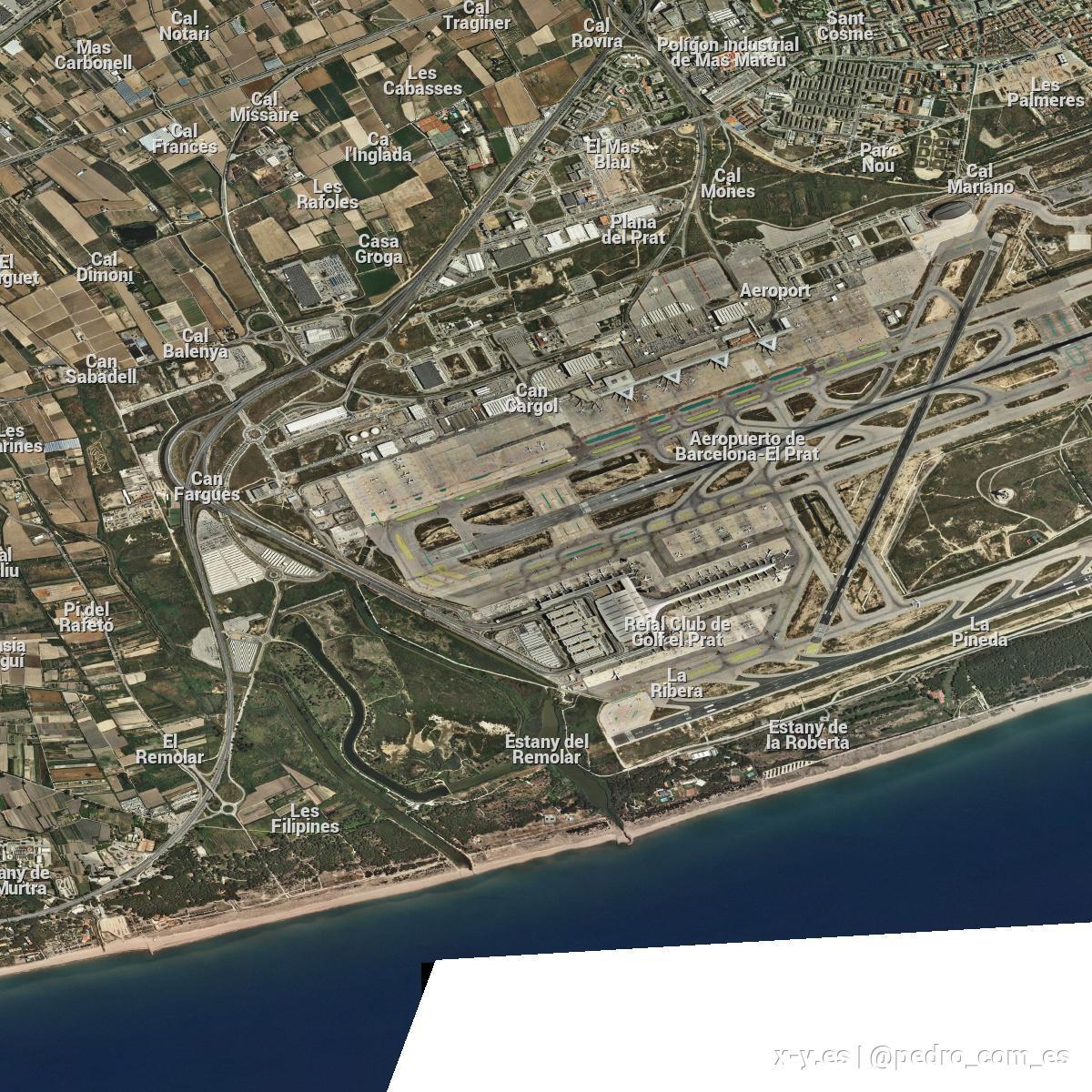 Barcelona Aeropuerto Observacion Meteorologica En X Y