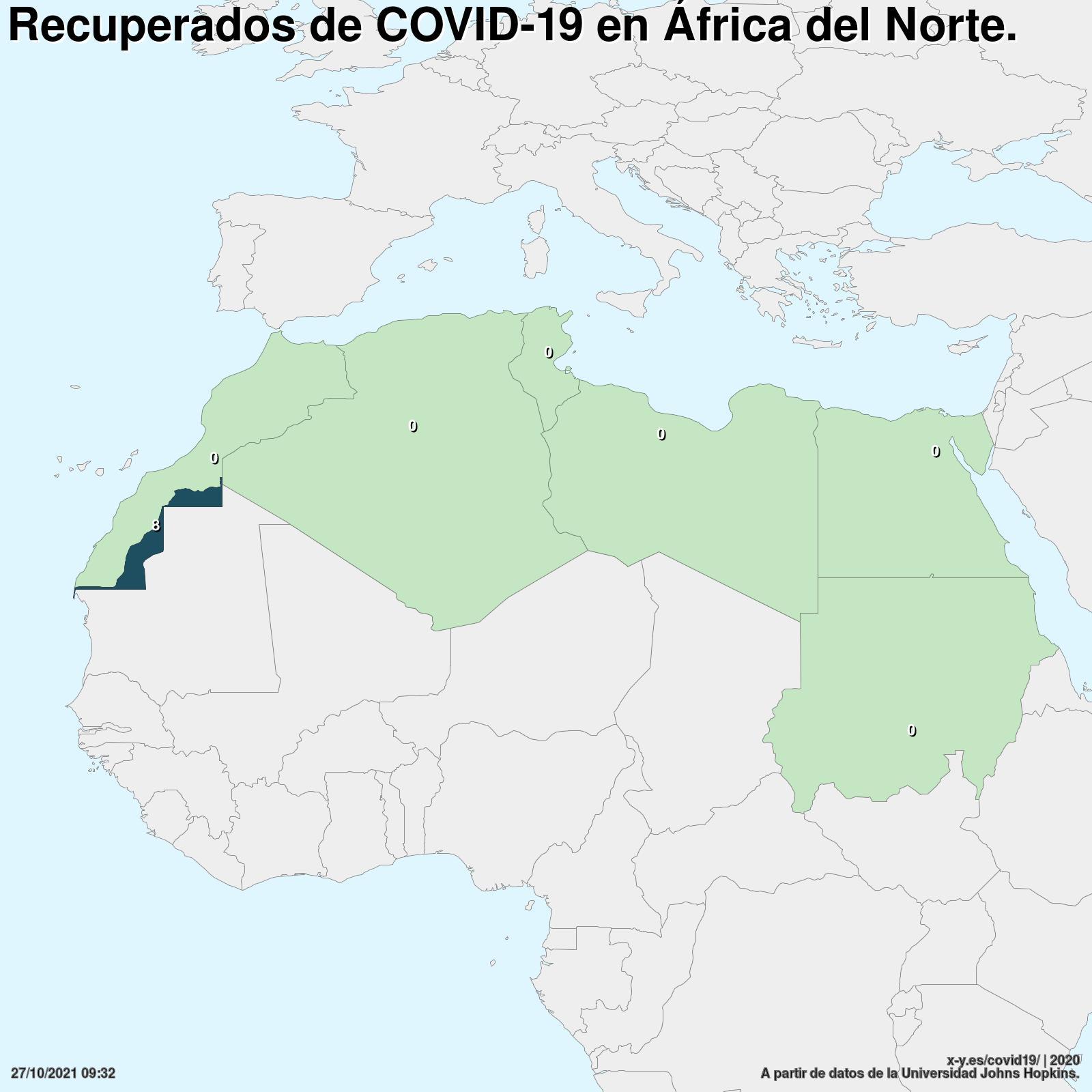 Mapa Africa Del Norte.Covid 19 En Africa Del Norte 436 497 Casos En 7 Paises A Dia 19 10 2020